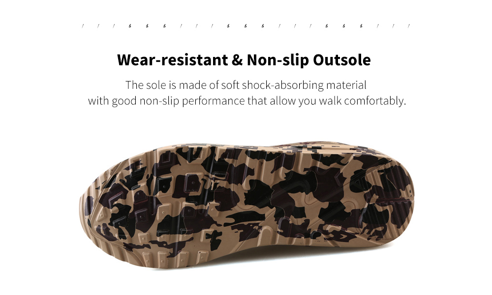 Autumn And Winter Camouflage Sports Casual Shoe Sole