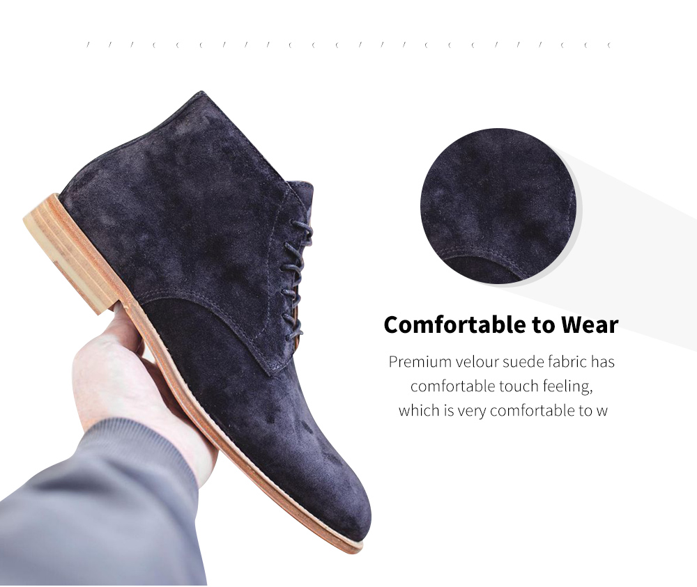 Suede Lace Men Boot Fabric