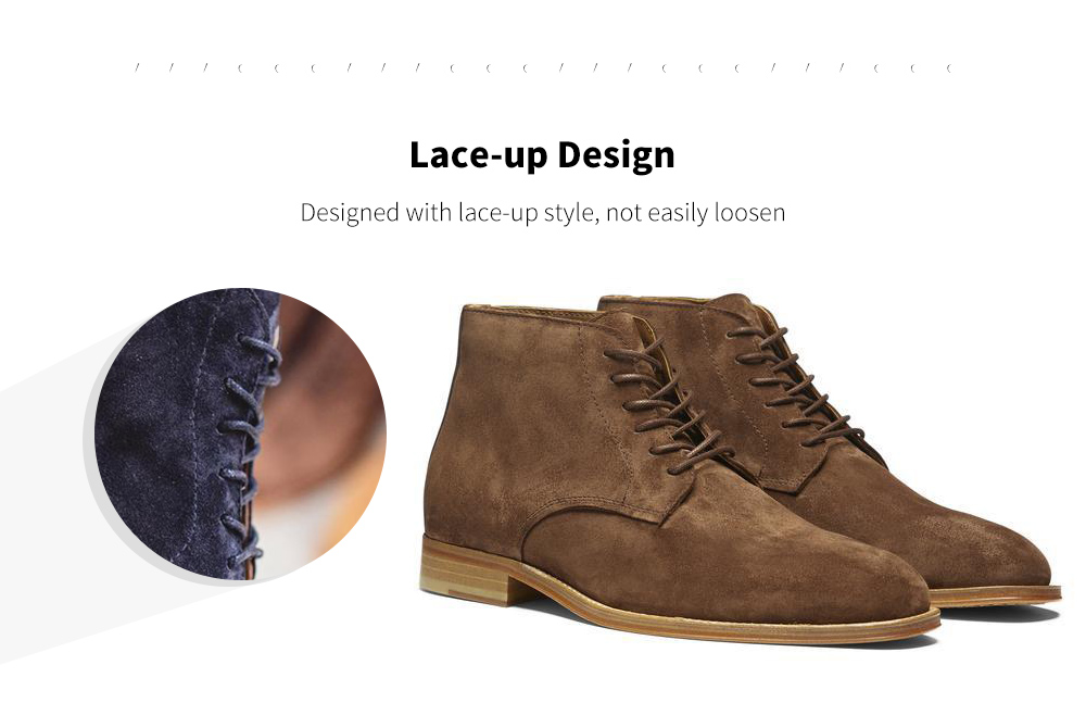 Suede Lace Men Boot Lining