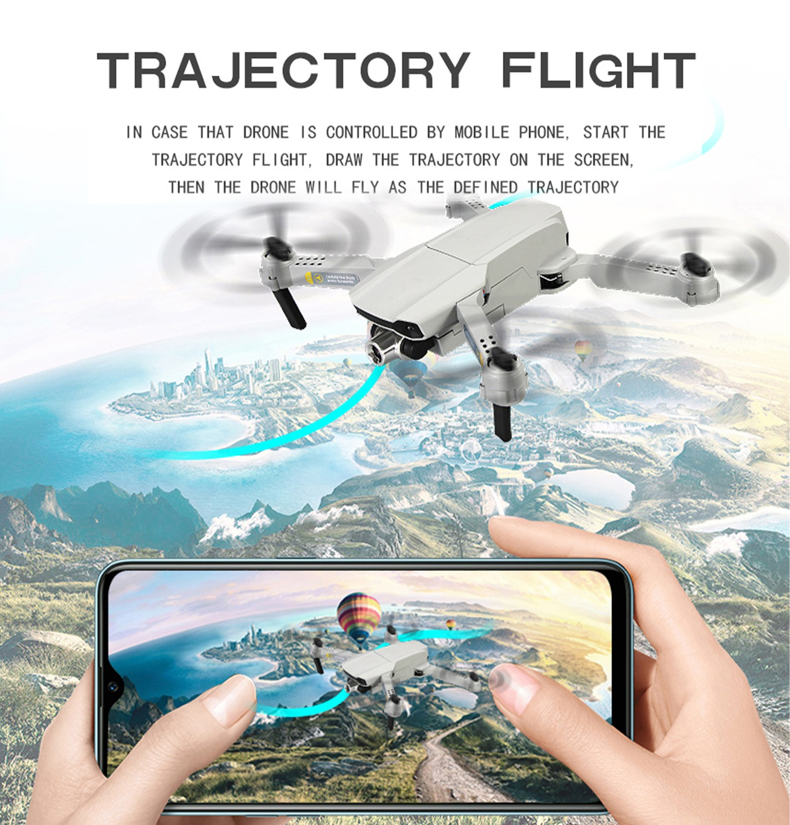 CSJ-X2 RC Drone Toy - Gray 4k with single camera