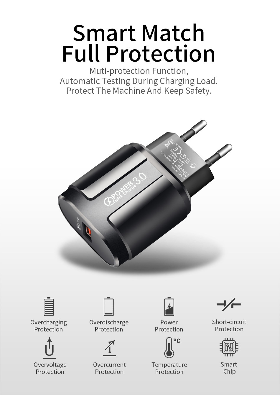 UC3746 Charger Smart Match, Full Protection