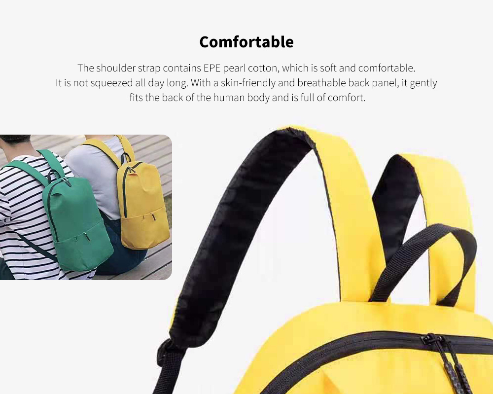 Colorful Waterproof Outdoor Casual Backpack - Yellow Comfortable