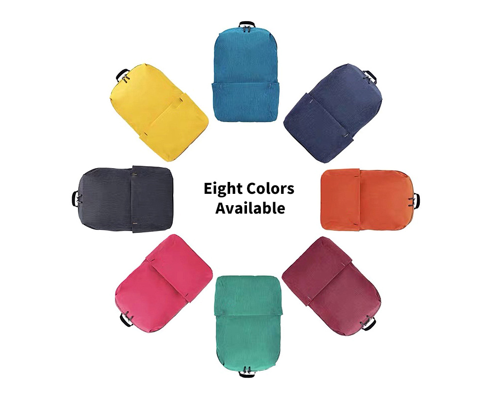 Colorful Waterproof Outdoor Casual Backpack - Yellow Eight Colors Available