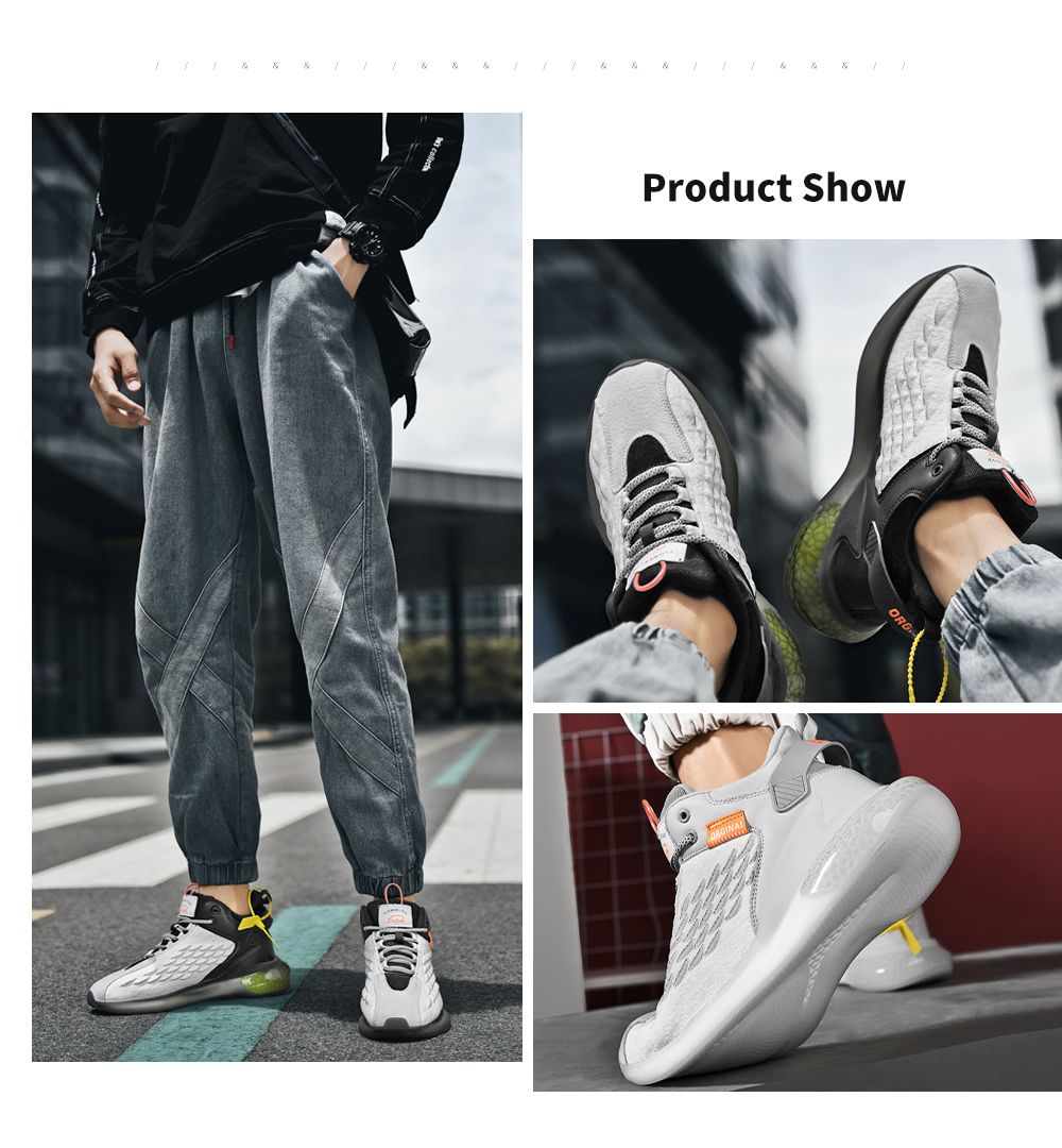 IZZUMI Men Sneaker Fashion Trend Round Toe Casual Sports Shoes