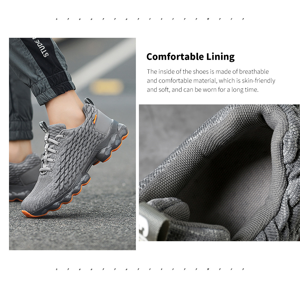 Unisex Blade Style Breathable Sneakers Running Shoes Sole
