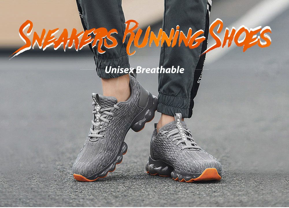 Unisex Blade Style Breathable Sneakers Running Shoes