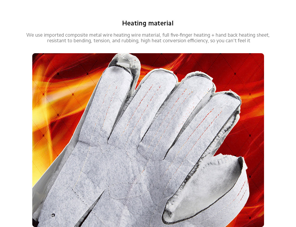 Monclique Electric Heating Glove - Gray