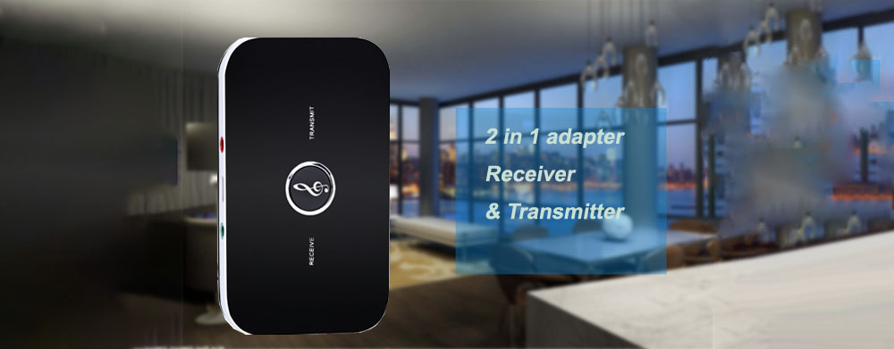 B6 Converter Bluetooth Adapter Receiver Two-in-one Receiver Transmitter Bluetooth 5.0 - Black