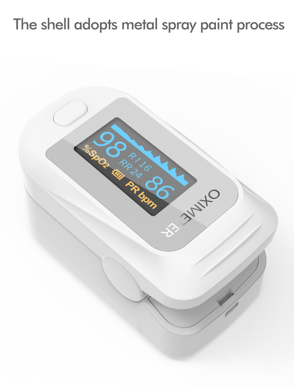 JZ-133R Finger Clip Oximeter The shell adopts metal spray paint process