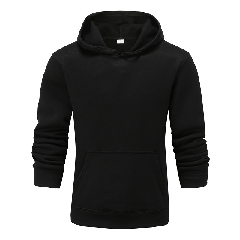 Men and Women Solid Color Casual Long Sleeve Couple Hoodie Sweater - Yellow M