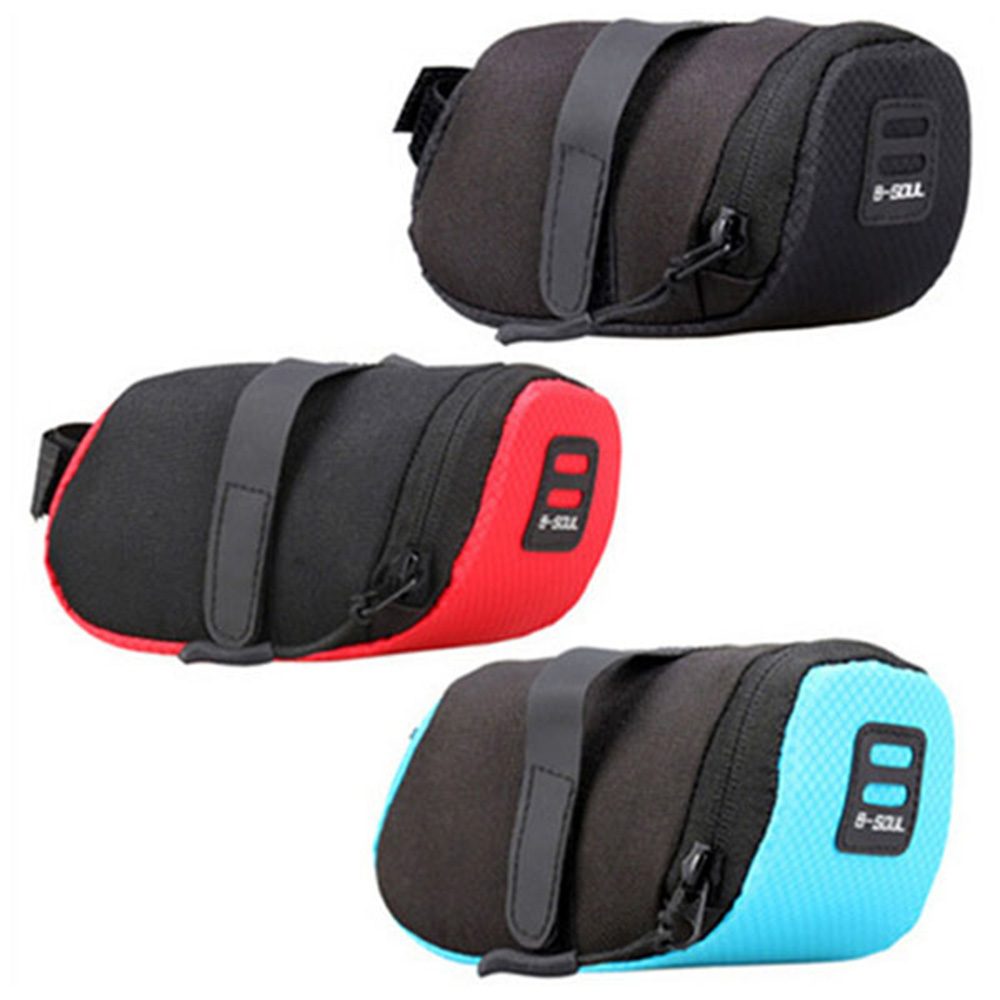 Bicycle Mountain Bike Waterproof Tail Bag Saddle Rear Riding Bag Portable Kit Outdoor Equipment - Black