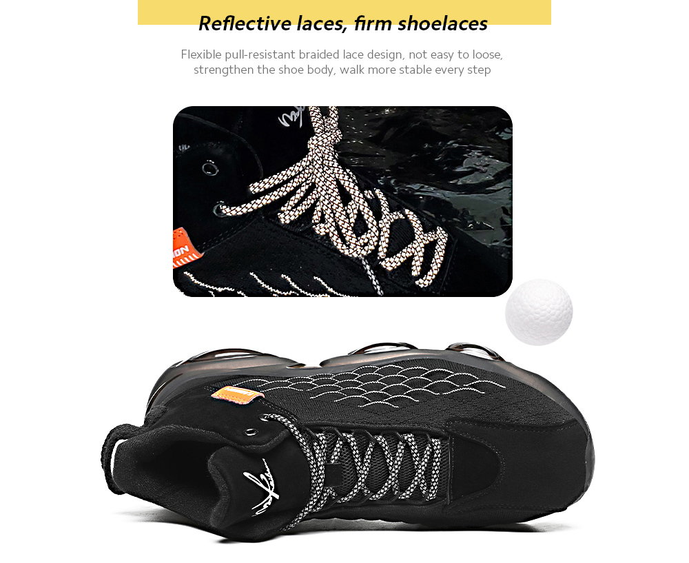 IZZUMI High-top Casual Sports Shoes Reflective laces, firm shoelaces