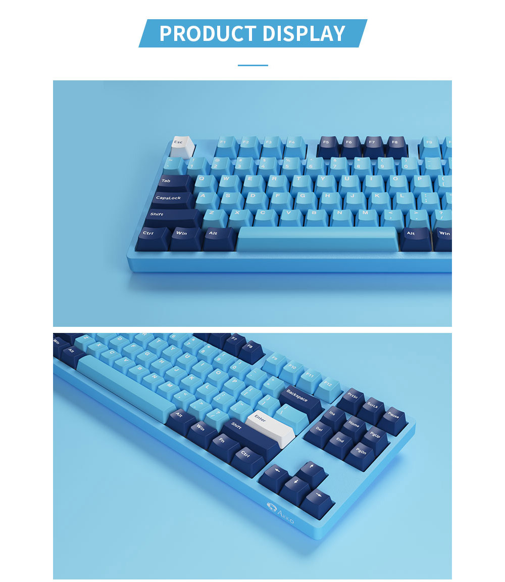 AKKO 3087 V2 Gaming Keyboard - Sky Blue