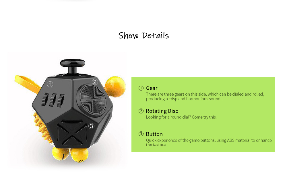 12 Facing The Dice Anti-pressure Irritability 创 Creative Toys Gift Second Generation Decompression Rubik - A1 Show Details