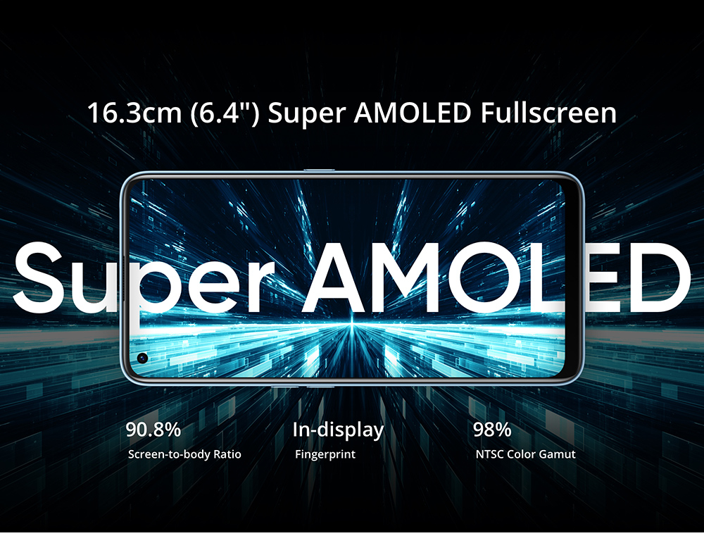 Realme 7 Pro Smartphone 6.4 Inch FHD Super AMOLED Screen 8GB 128GB Snapdragon 720G Android 10 64MP Quad Rear Camera 65W SuperDart Charging International Version - Silver