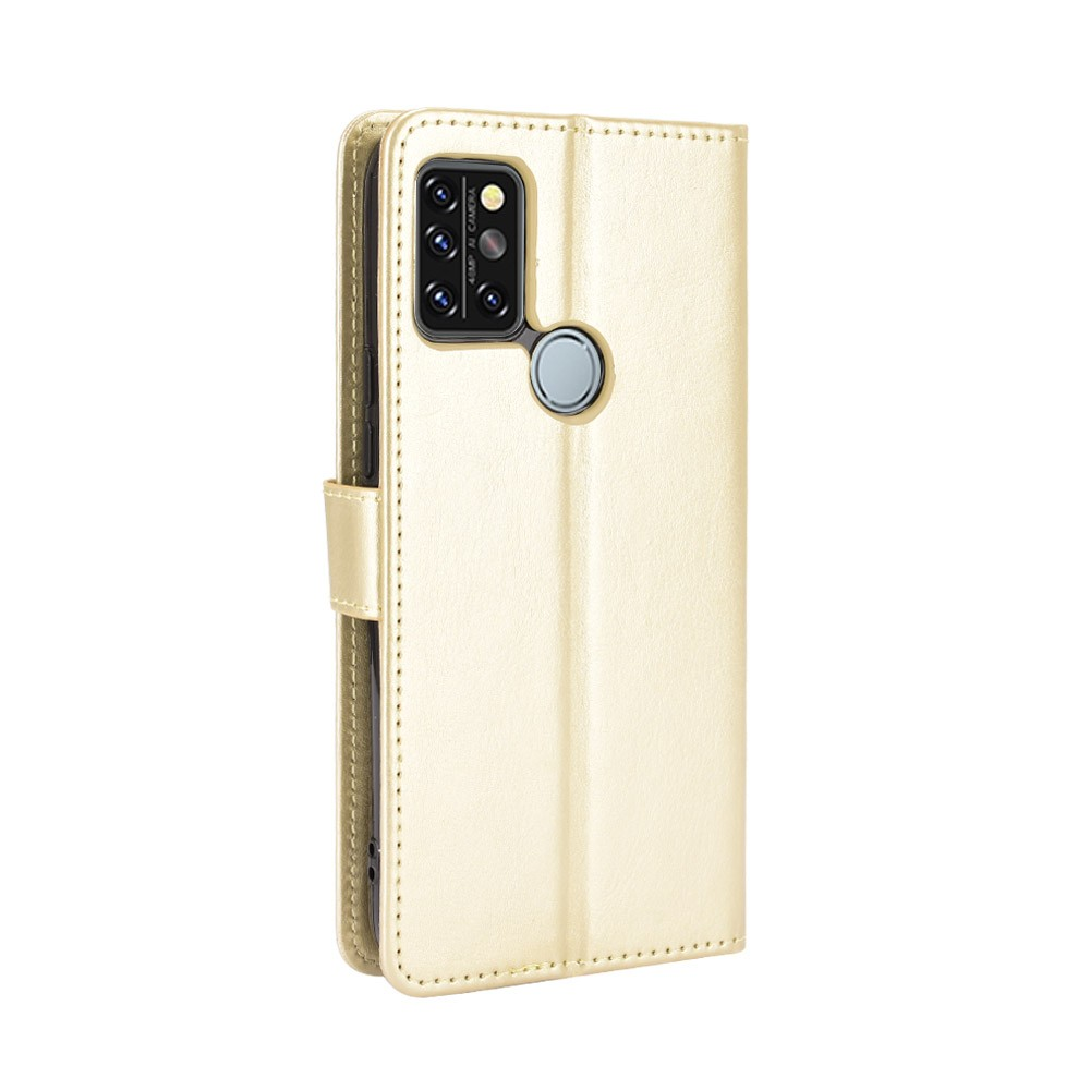 ASLING PU Leather Cover with Holder Wallet Card Storage Phone Case for Umidigi A9 Pro - Brown