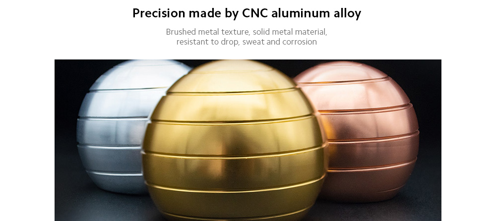 Unloading Rotating Desktop Round Ball Precision made by CNC aluminum alloy