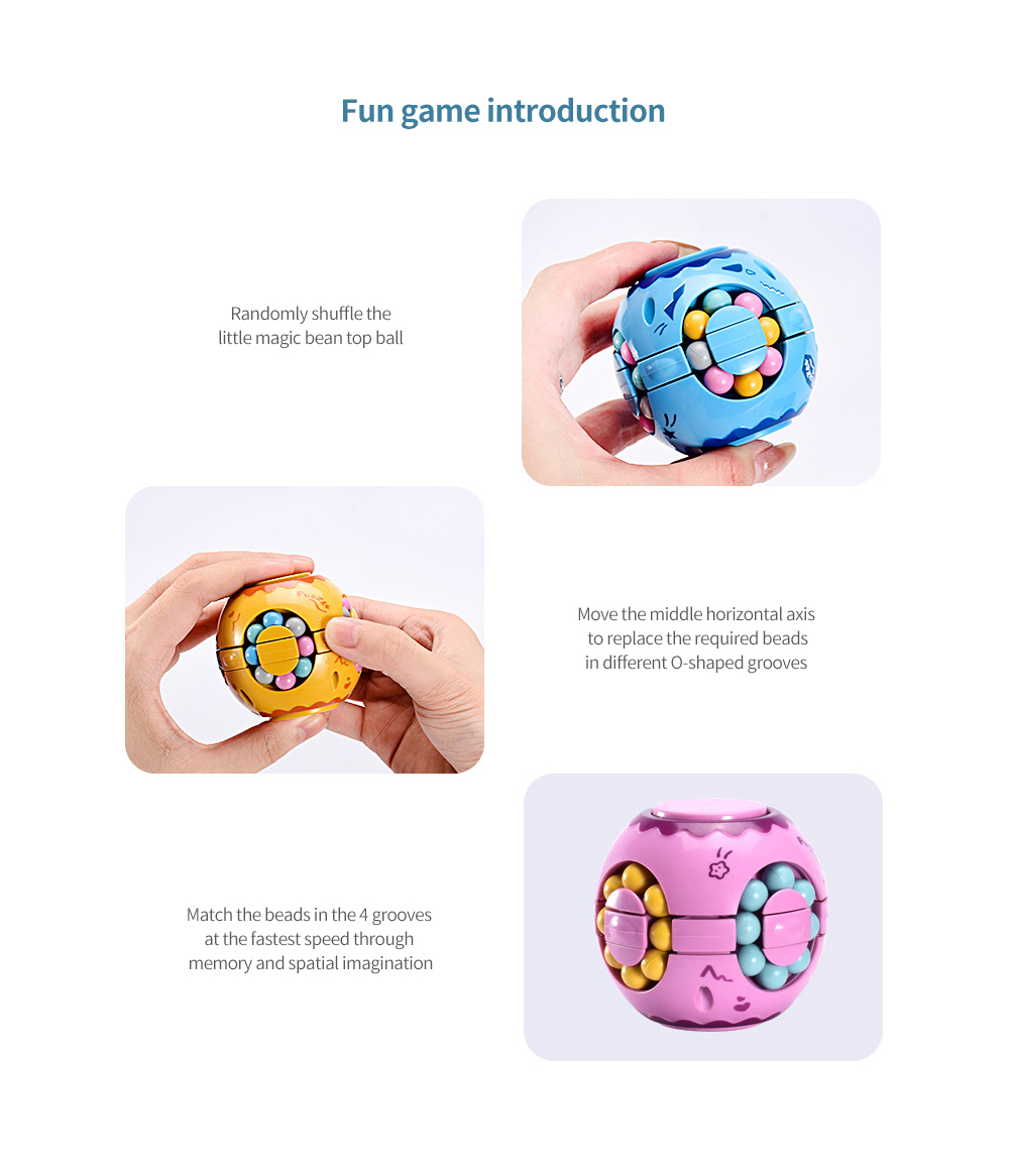 Toy Colorful Magic Cube play methods