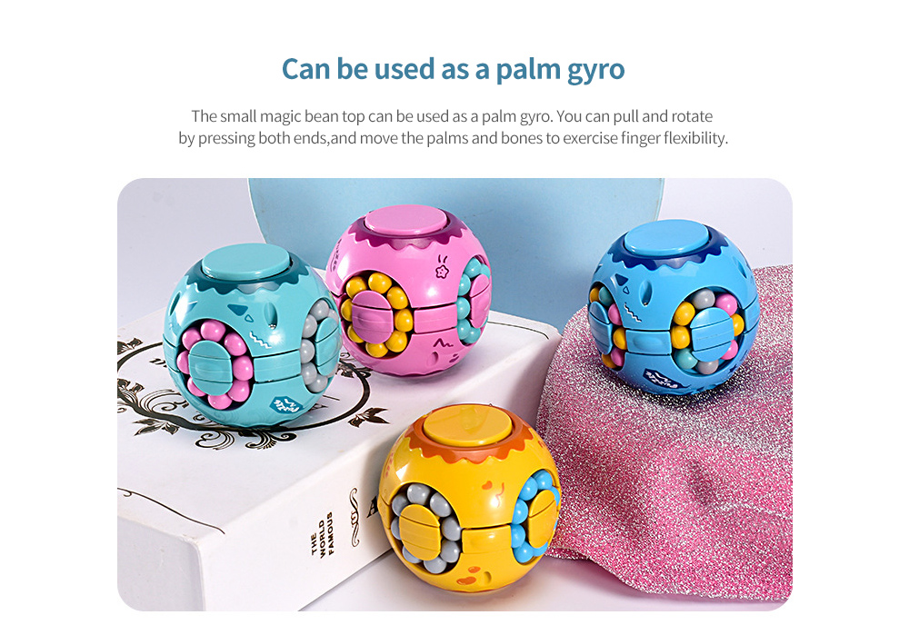 Toy Colorful Magic Cube Can be used as a palm gyro