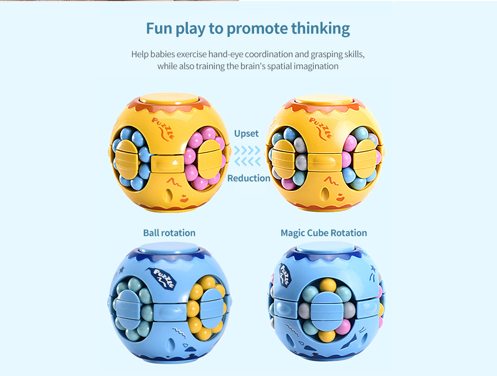 Toy Colorful Magic Cube Fun play to promote thinking