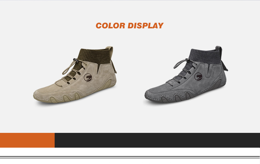 IZZUMI Mid-High Upper Socks Top Octopus Men Leather Casual Shoes