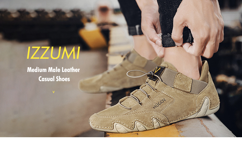 IZZUMI Medium Octopus Male Leather Casual Shoes