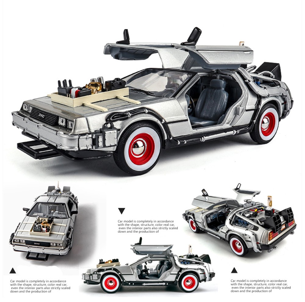 1:24 Kid Car Toy - Gray Back to the future 2