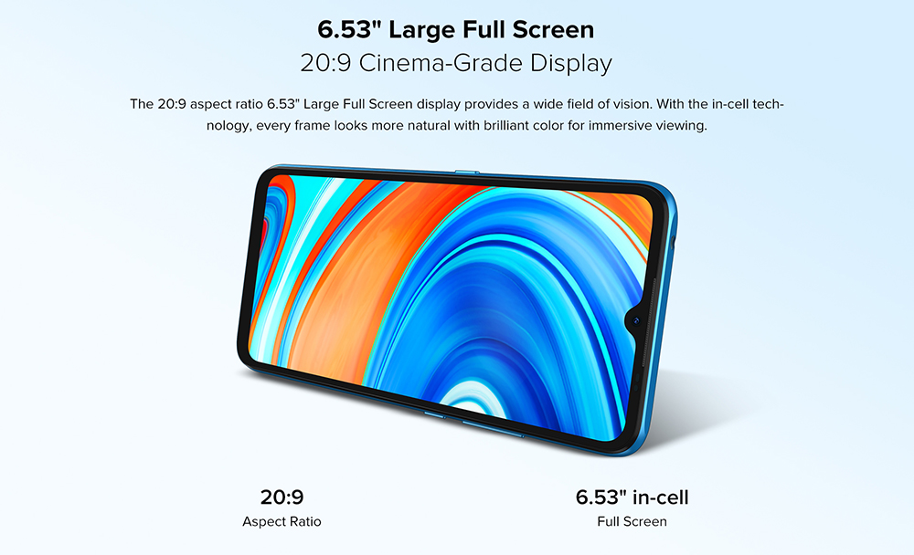 """UMIDIGI A9 Smartphone Global Bands 6.53 Inch HD+ Infrared Thermometer Android 11 5150mAh 3GB 64GB Helio G25 13MP Triple Rear Camera Octa Core 4G Smartphone - Blue 6.53"""" Large Full Screen"""