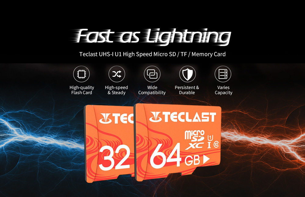 Teclast UHS-I U1 Micro SD / TF / Memory Card - Bee Yellow 32GB