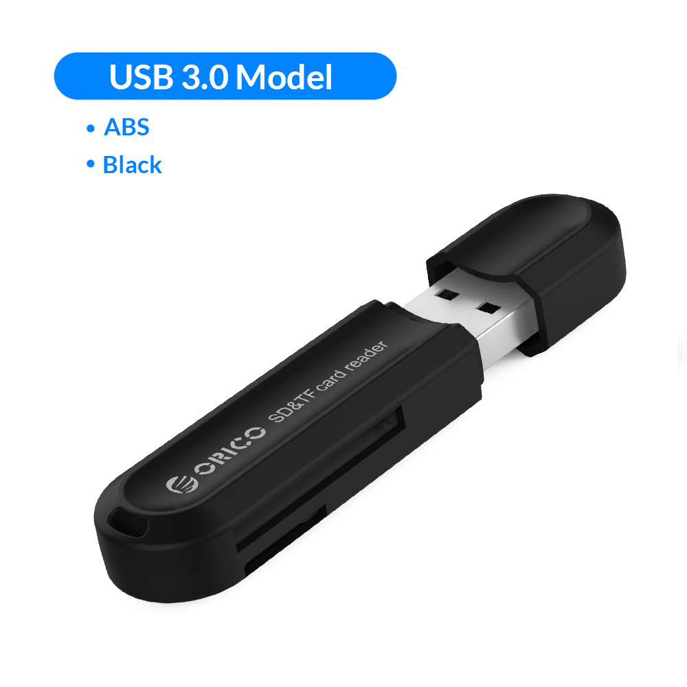 ORICO Memory Card Reader USB 3.0 SD Micro SD TF Memory Card Adapter for Macbook Pro Samsung Laptop - Black