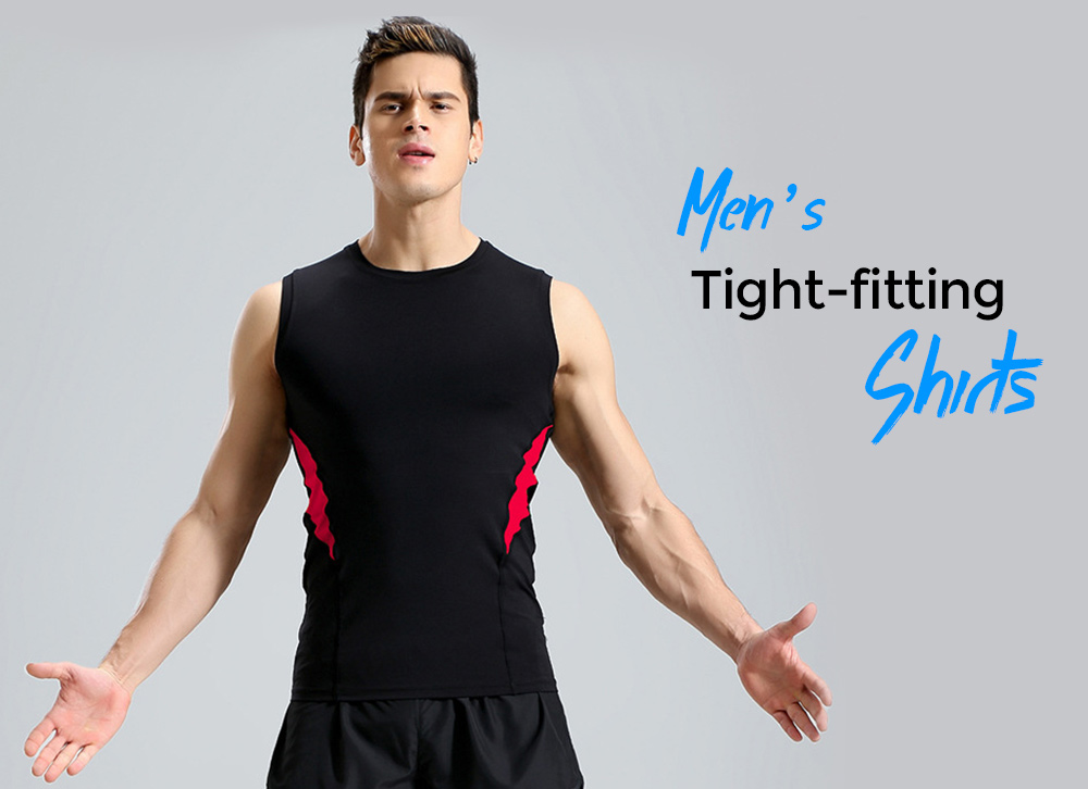 Fitness Clothes Sleeveless Vest Male Tight Gym High Racing Running T-shirt Sports Clothing - Vest P17120 black + fluorescent green 2XL