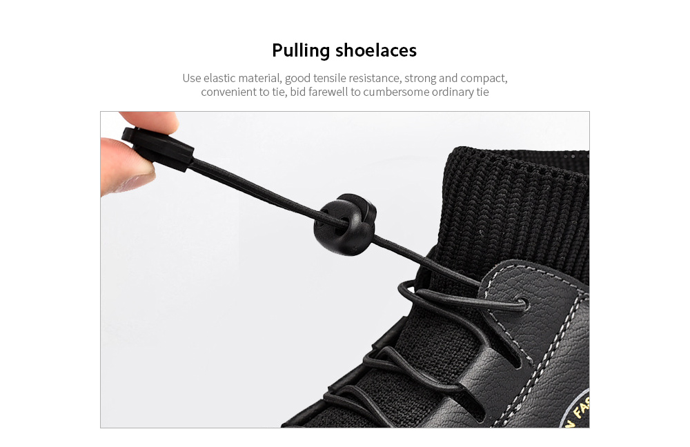 England Fashion Trendy Casual Men Hand-stitched Socks Middle Upper Boots Pulling shoelaces
