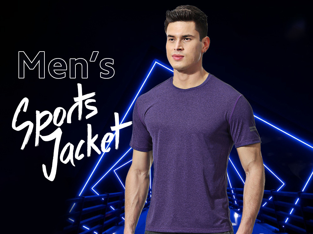 Sportswear Casual Short-sleeved Male Loose Large Size Speed Dry T-shirt Round Neck Elastic Fitness Clothing - Short Sleeve My17822_ - Reflective Rice 2XL