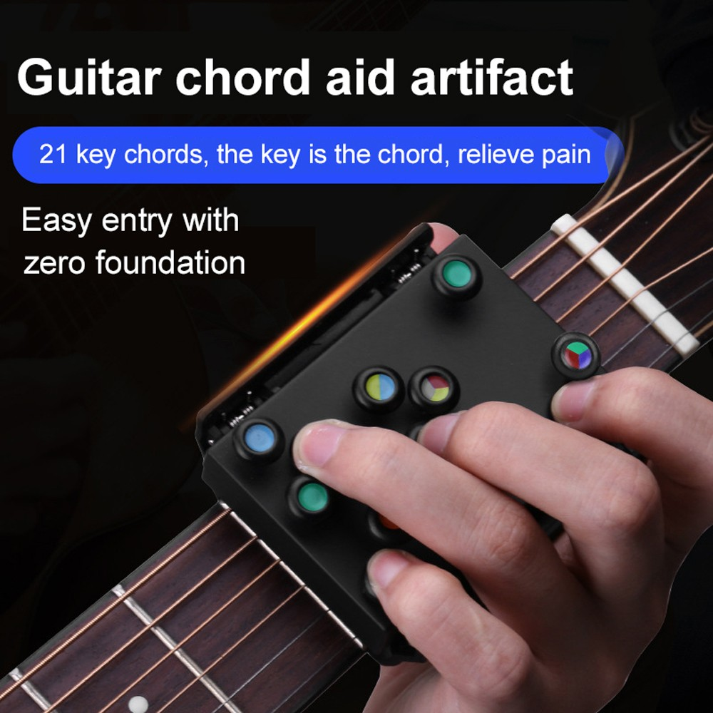 Folk Guitar Chord Assist - Black English