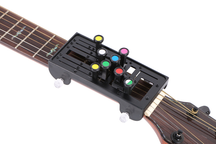 Classical Guitar Teaching Aid Guitar Learning System Study Practice Aid Pain-proof Finger Booster Learn Chord Accessories - Golden