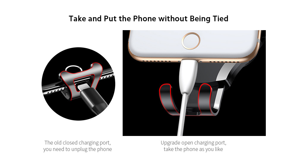 Baseus SUYL-XP01 Car Mobile Phone Bracket Car Suction Cup Gravity Smartphone Multi-function Support Holder - Black Take and Put the Phone without Being Tied
