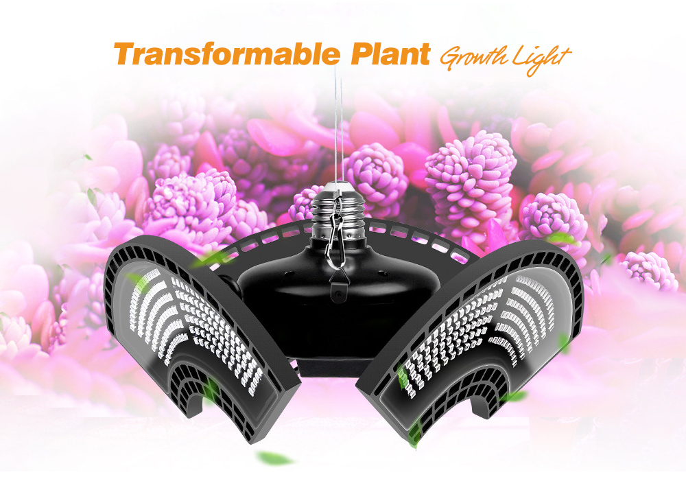 288 LEDs Red and Blue Spectrum Plant Growth Light - Black E26