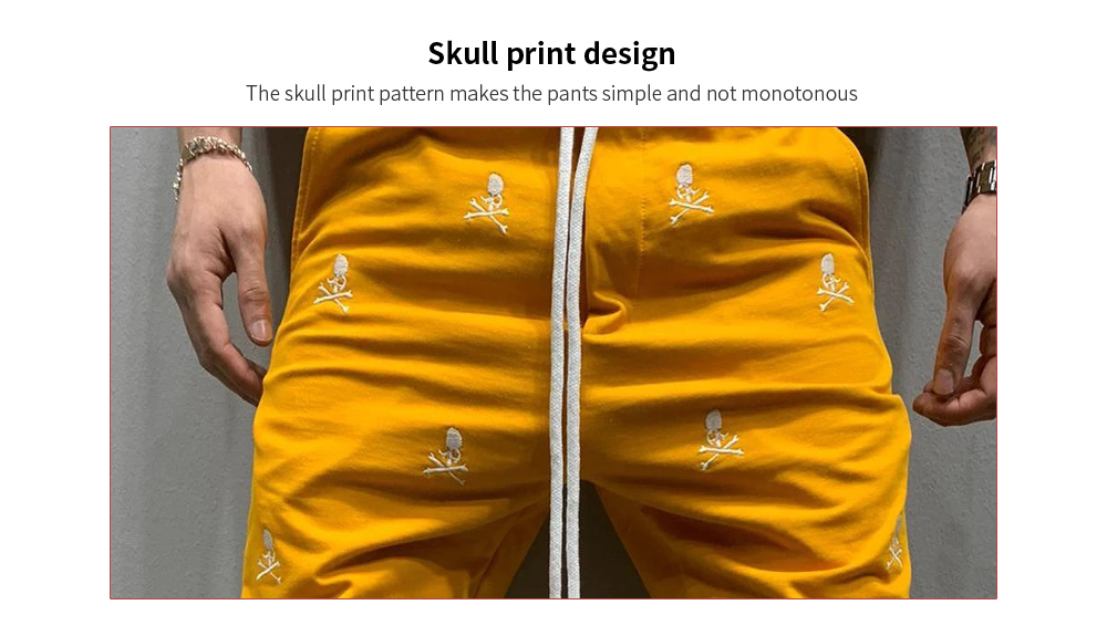 Hip Hop Fashion Embroidery Casual Slim Trend Sports Foot Zipper Trousers print