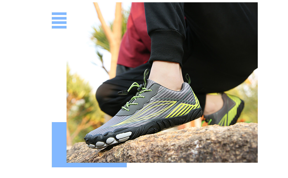 Outdoor Five Finger Shoes Casual Hiking Shoes Men's Shoes Hiking Cross-country Climbing Running Shoes - A26 Blue 42 yards