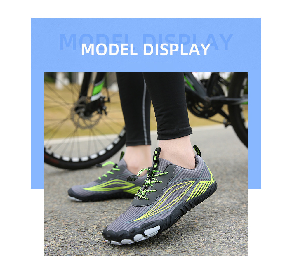 Outdoor Five Finger Shoes Casual Hiking Shoes Men's Shoes Hiking Cross-country Climbing Running Shoes - A26 Black 46 yards