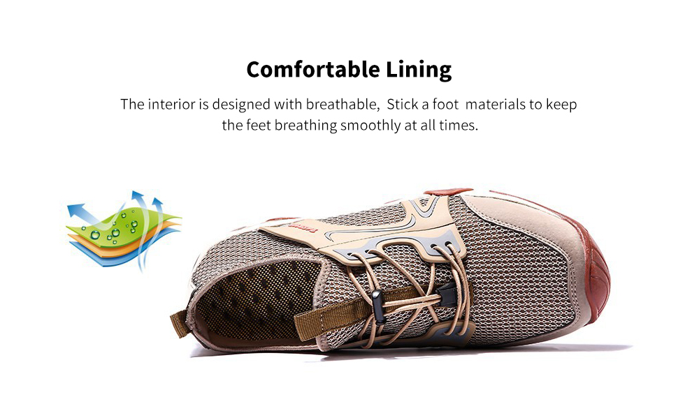 Men's Casual Shoes Men's Shoes Summer Breathable Mesh Shoes Wild Network Eye Outdoor Light Hiking Shoes Sports Mesh Shoes - 1858 Gray 43