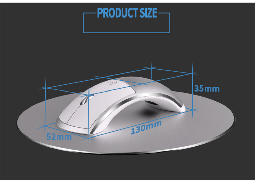 Q10 2.4G USB Wireless + Bluetooth Mouse Rechargeable Silent Gaming Mouse for MacBook Lenovo HP Dell Asus Laptop PC Computer Mice - Black