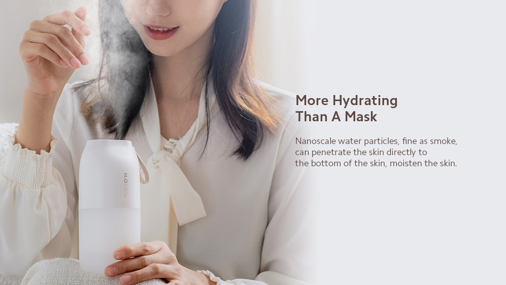 DQ116 Aromatherapy Humidifier Nano Double Spray Humidity Small Household Mute Bedroom Office Desktop Purification Air Moisturizing - White