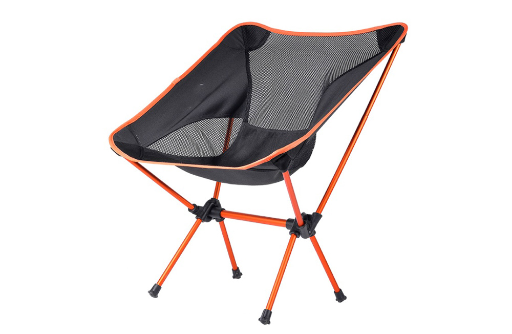 Portable Camping Beach Chair Lightweight Folding Fishing Outdoor Camping Ultra Light Picnic Seat Fishing Tools Chair - Orange
