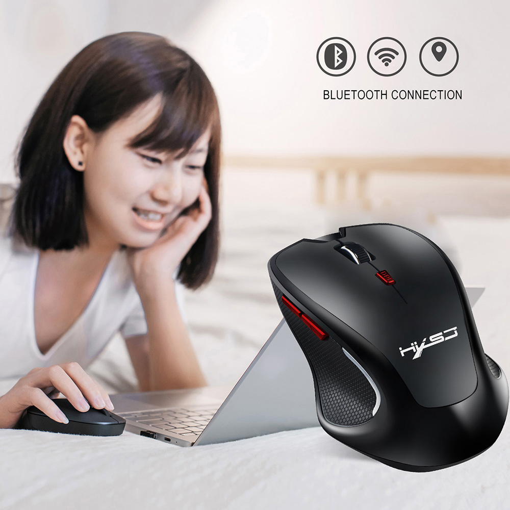 HXSJ T21 Wireless Bluetooth Mouse - Black