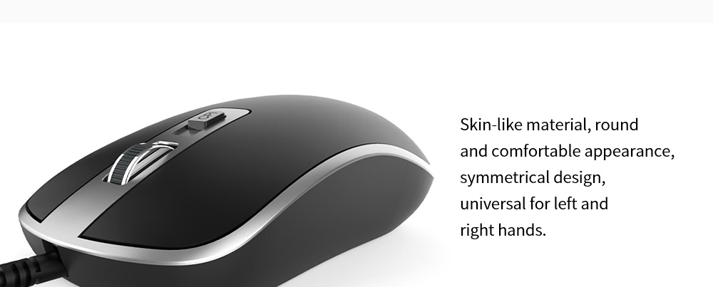 Lenovo M104 Computer 4D Mouse Home Notebook Desktop Office Business All-in-One USB Wired Mouse - Black Skin-like material