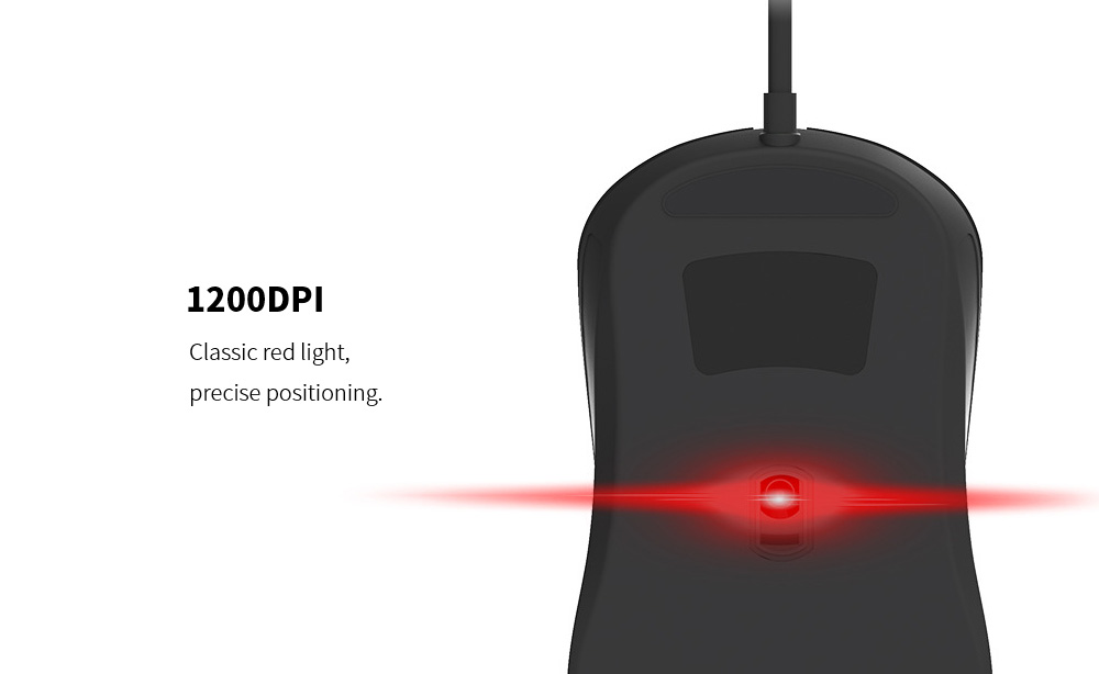 Lenovo M101 Mouse Notebook Business Office Household USB Mouse Computer Wired Mouse - Black 1200DPI