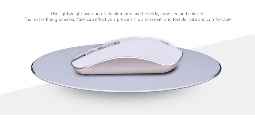 S4000 Mouse Wireless Mute Mouse Notebook Computer Home Office Light Fashion Wireless Mouse - Sakura Pink Use lightweight aviation-grade aluminum
