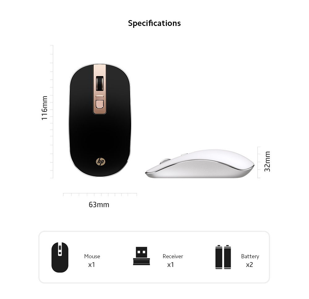 S4000 Mouse Wireless Mute Mouse Notebook Computer Home Office Light Fashion Wireless Mouse - Sakura Pink Specifications