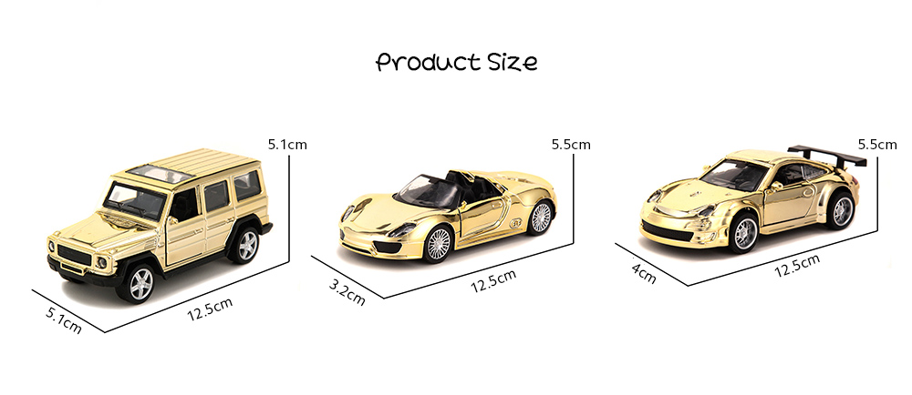 Golden Alloy Car Model Children's Toys Simulation Pull-off Off-road Car Model Cake Baking Decoration - Golden 918 Product Size